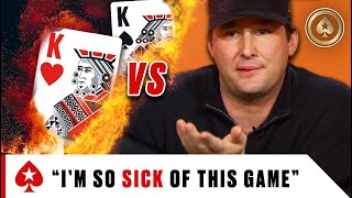 Phil Hellmuth REALLY HATES Pocket Kings ♠️ Best of The Big Game ♠️ PokerStars