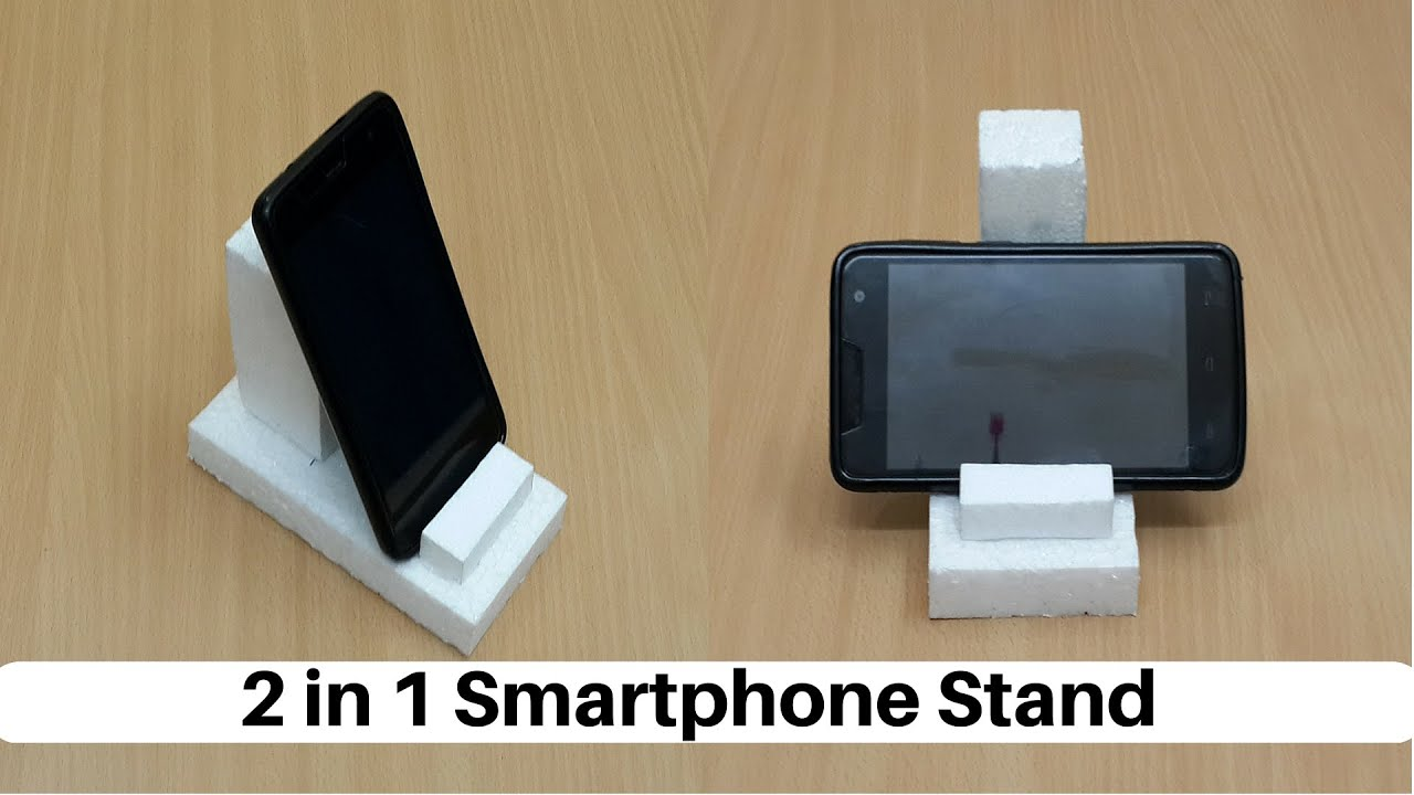how to make a 2 in 1 smartphone tablet stand from. Black Bedroom Furniture Sets. Home Design Ideas