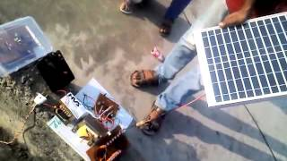 Development of Solar based grid tie inveter without battery