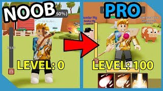 Noob To Pro! Max Power Magic Staff! Unlocked All Skills! - Roblox Hunting Simulator 2