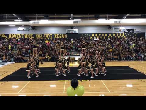 Enterprise High School Cheer Homecoming Rally performance 9/15