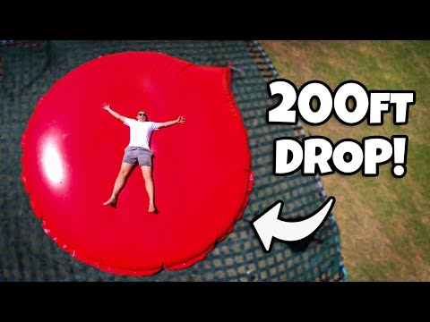 We Dropped The WORLD'S LARGEST WATER BALLOON From A 200ft Crane!