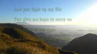 "Debby Boone ""You Light Up My Life"" with lyrics 77年、10週連続で全米..."