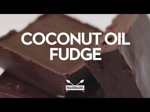 Coconut Oil Chocolate Fudge