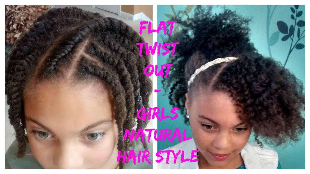 flat twist out - 4c natural hair style - youtube