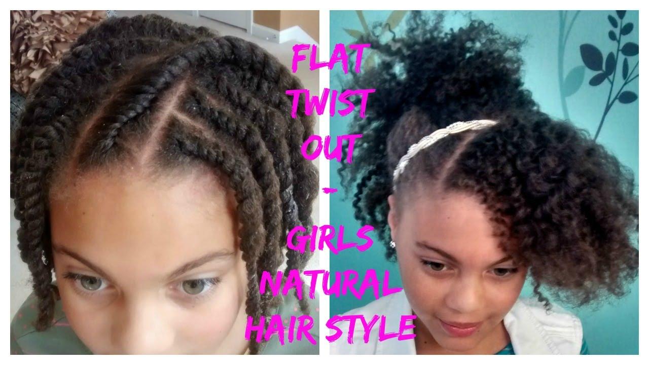 flat twist - 4c natural hair