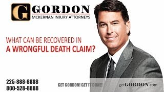 What can be recovered in a wrongful death claim? | Gordon McKernan Injury Attorneys