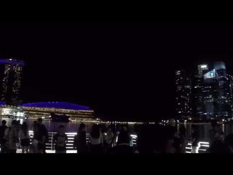 Singapore Waterfront Promenade Night View