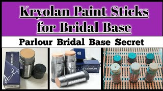 Parlour Bridal Base Secret|How to Apply Foundation like a Pro|Kryolan Paint Sticks Review Urdu/Hindi