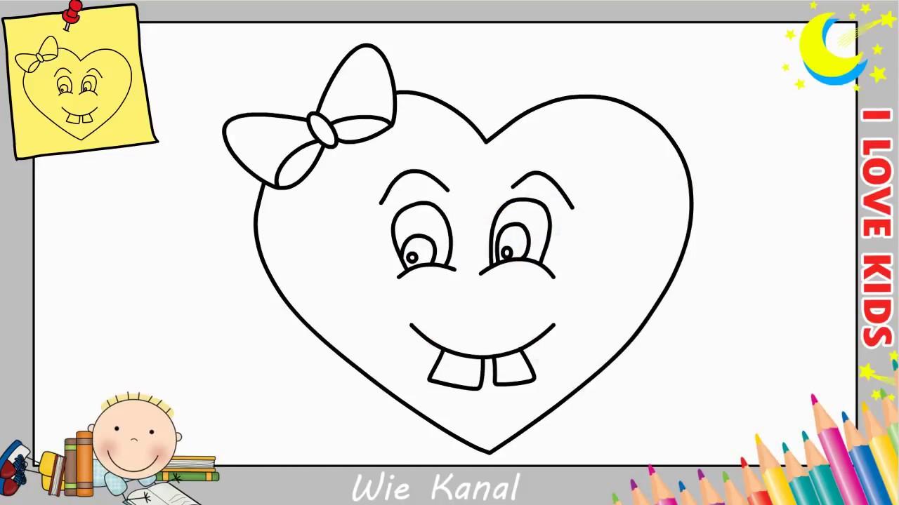 Wie Zeichnet Man Eine Herz Emoji Einfach Fur Anfanger Kinder