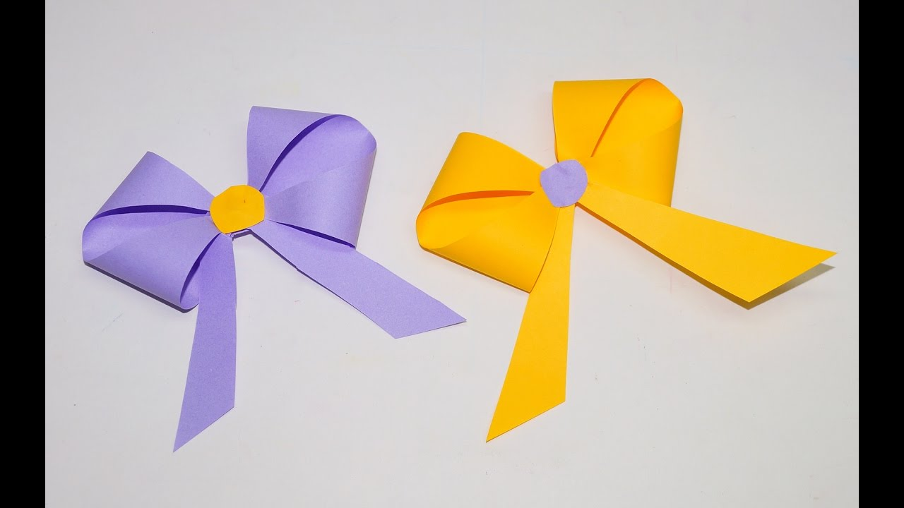 how to make a paper bowribbon easy origami bowribbons