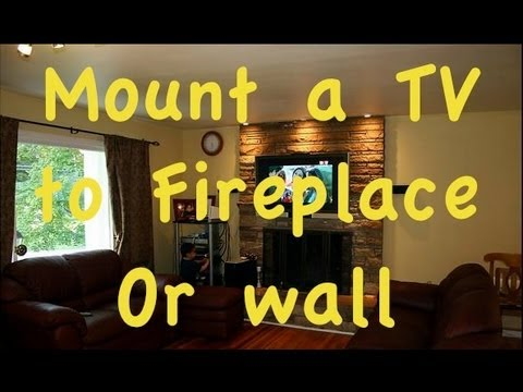 How to Mount Flatscreen TV over a fire place. - How To Mount Flatscreen TV Over A Fire Place. - YouTube