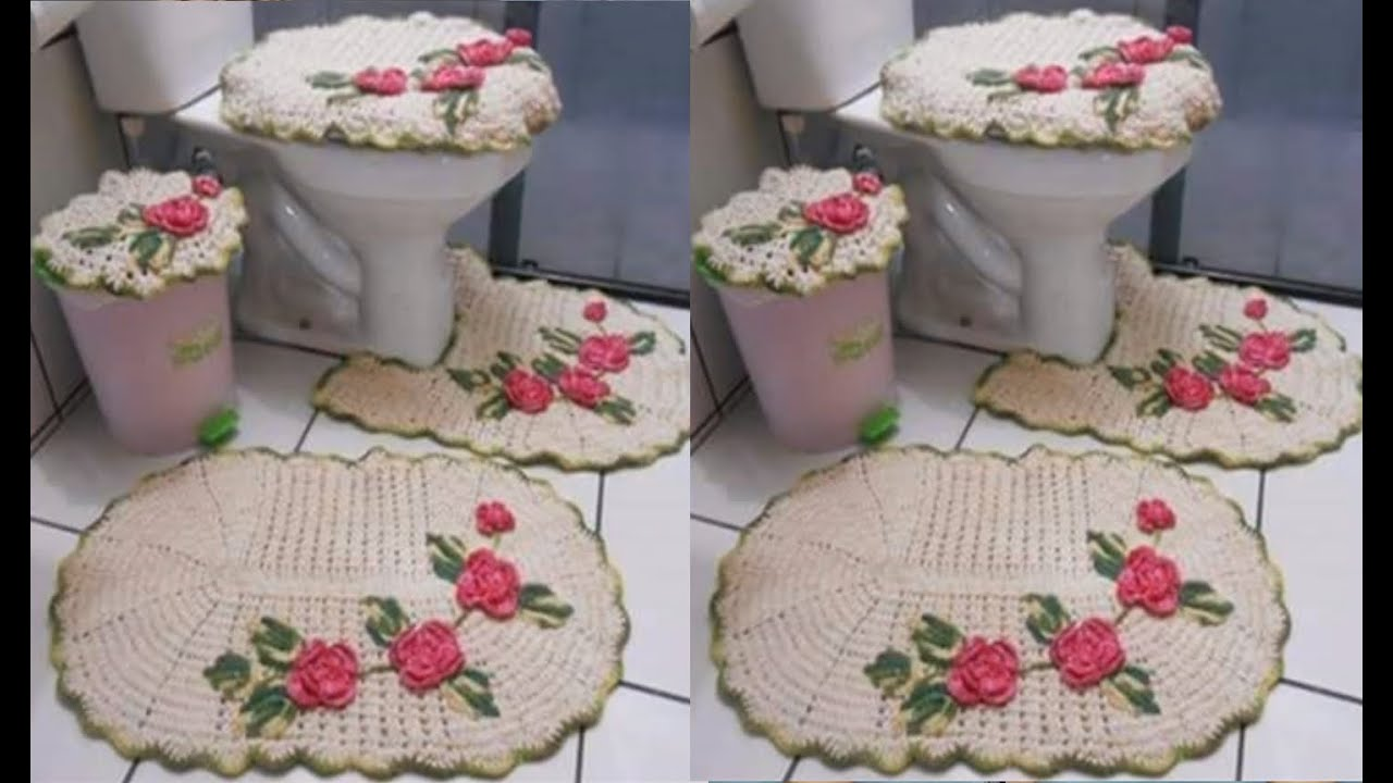 set de ba os tejidos a crochet youtube