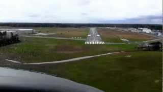 Landing at Sussex County Airport in Delaware