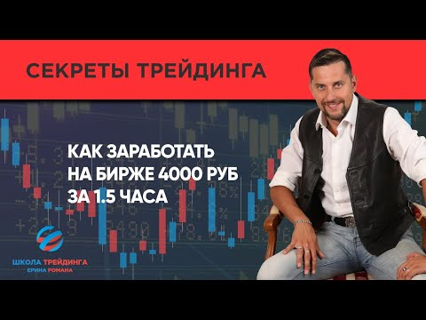 Как заработать на бирже 4000 руб за 1.5 часа. Сделка по системе Ерина Романа // Торговля на бирже