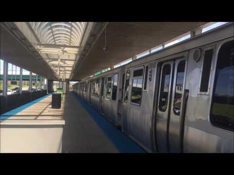 CTA Blue Line Trains at Cumberland Station