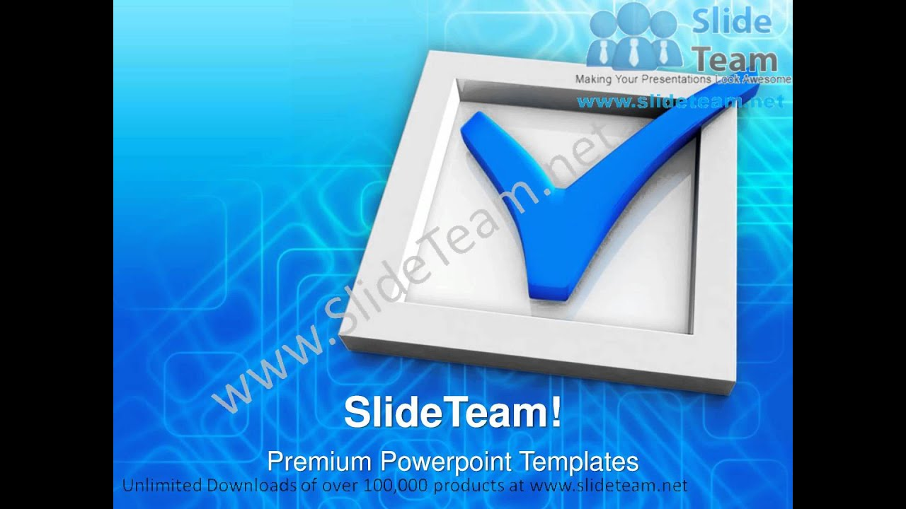 Check Box And Check Mark Symbol Powerpoint Templates Ppt Themes 1012