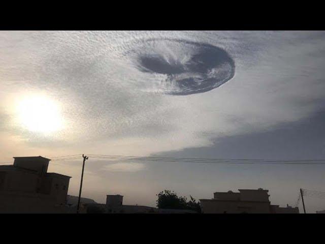 El pánico se apodera de los Emiratos Árabes por la aparición de un misterioso agujero en el cielo