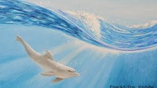 How to Draw a Dolphin Underwater With Color Pencils - Wie malt man einen Delfin unter Wasser