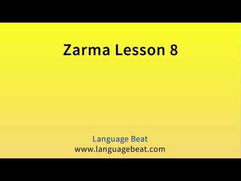 Learn Zarma   :  Lesson 8  -  Zarma  Phrases for Beginners