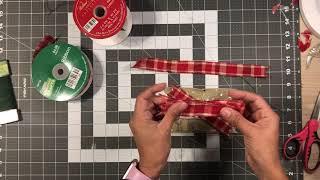 Easy bow tutorial - Door Hanger