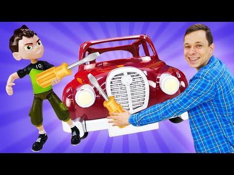 Лучшие видео - Бен 10 и Фёдор прокачивают машинки в Автомастерской! - Игры онлайн.