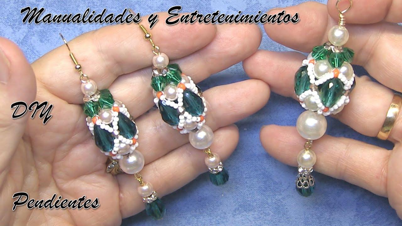 DIY - Pendientes y colgante - Earrings and pendant -