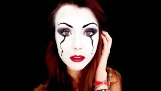 Pierrot Mask - Carnival make up tutorial with NailartFelice