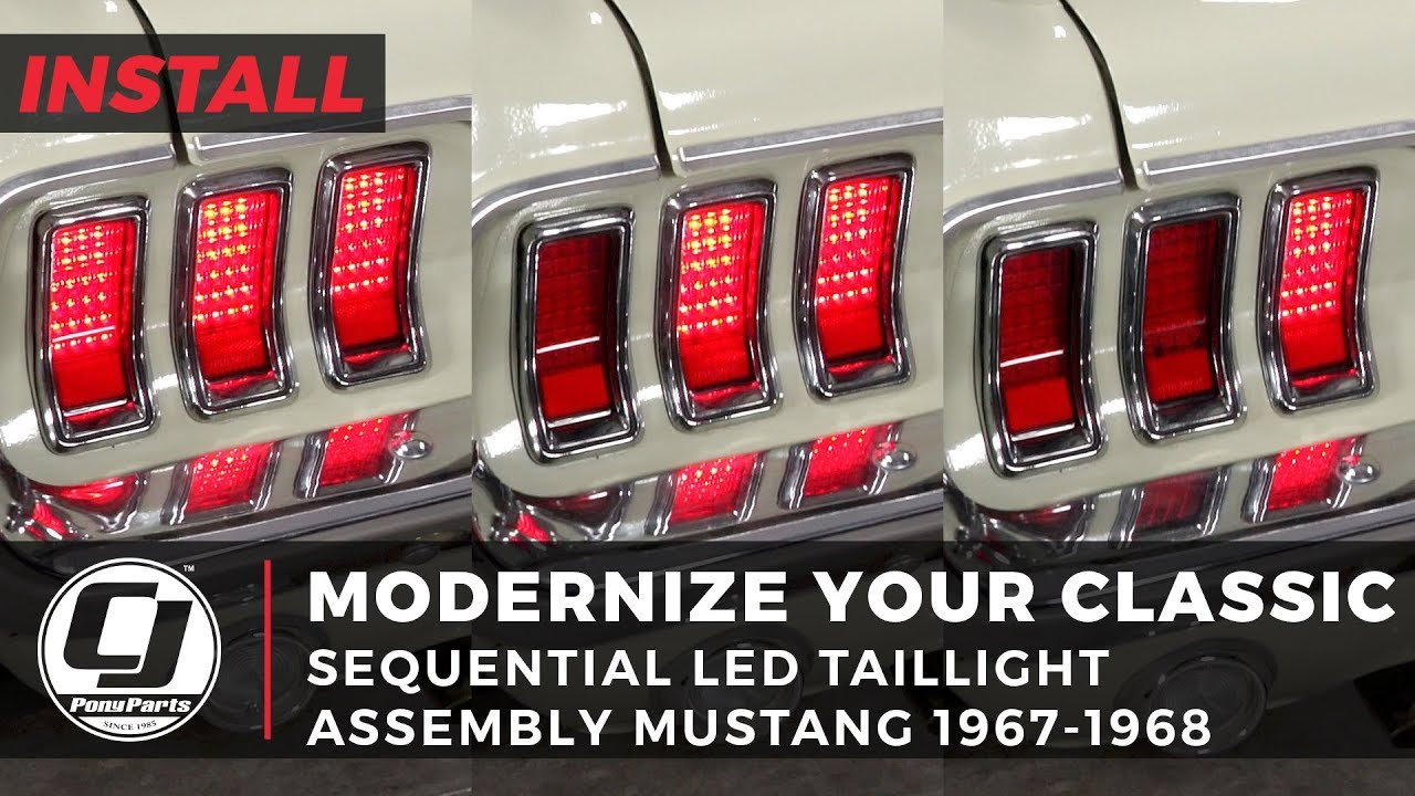 Modernizing the Classic Mustang | Sequential LED Taillight Assemblies  1967-1968 Mustang