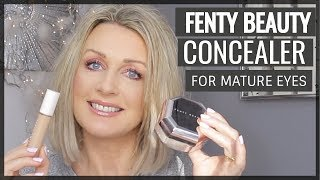 NEW! FENTY BEAUTY PRO FILT'R CONCEALER & PWDER REVIEW (MATURE SKIN)