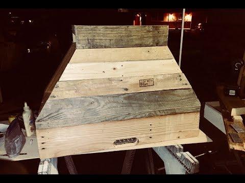 Making a Pallet wood Island Range hood from a wall mount hood