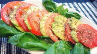 Caprese Di Avocado - Ricetta Crudista Igienista - Veg Raw Food