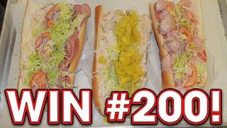 Meathead's Hoagie Sub Sandwich Challenge!! (randy Santel's 200th Win!!)