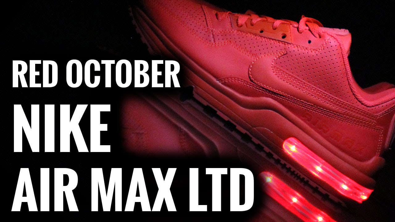bbbf4e29150a Red October Nike Air Max LTD Light Up Shoes - YouTube