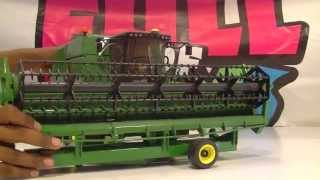 Amazing Video Of Bruder John Deere Combine Harvester Working Demonstration Review For Children