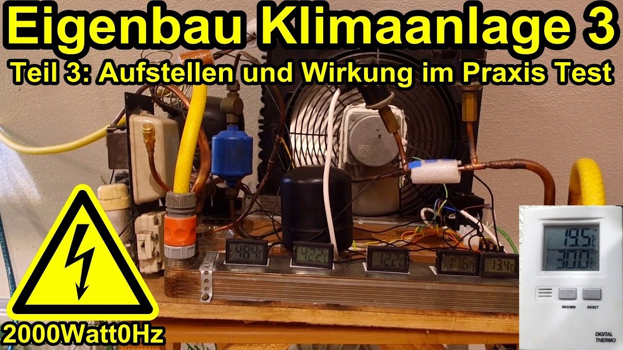 eigenbau klimaanlage im praxistest teil 3 youtube. Black Bedroom Furniture Sets. Home Design Ideas