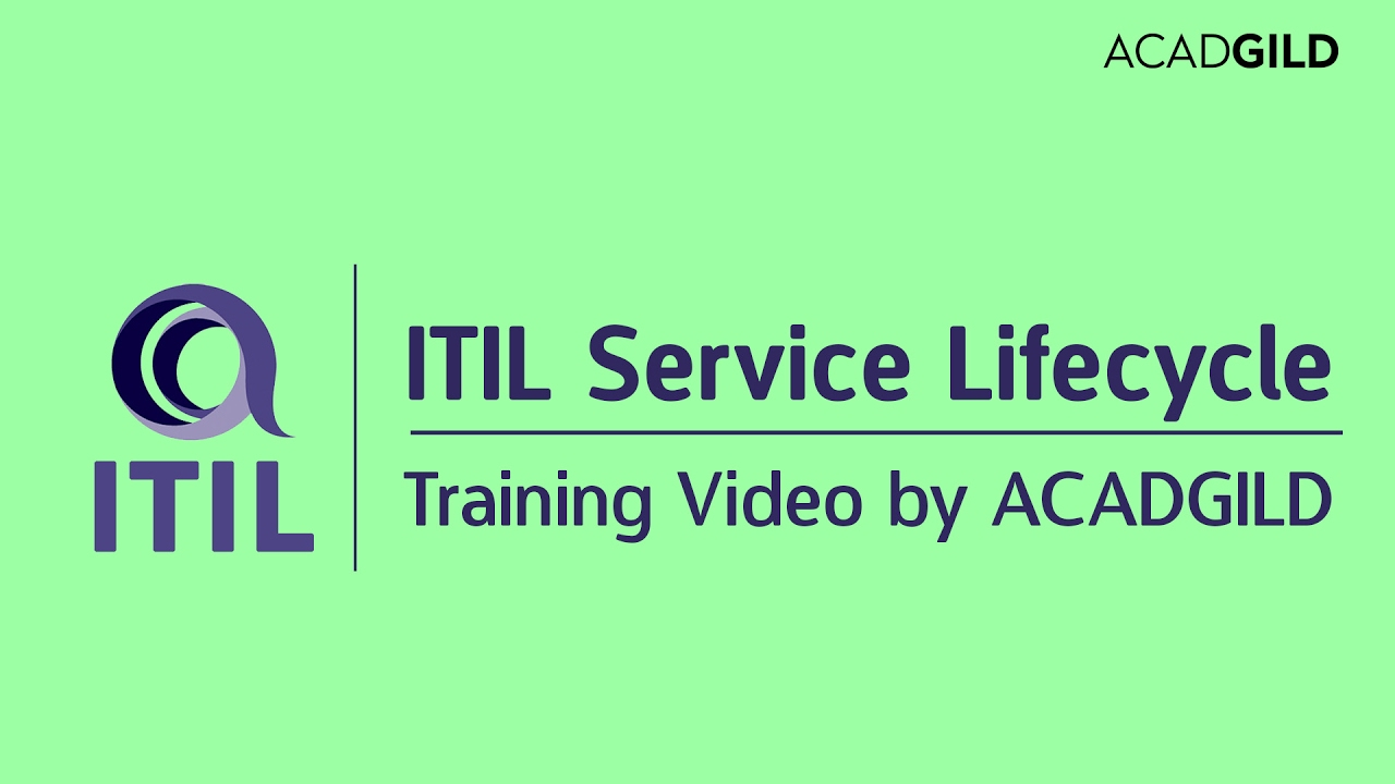 Itil Service Management Lifecycle Tutorial Itil Service Strategy