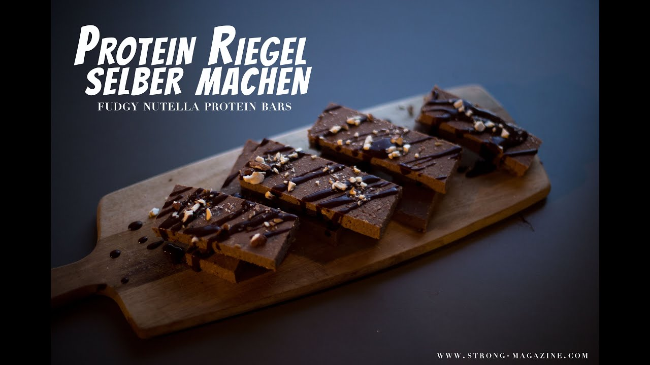 protein riegel selber machen fudgy nutella protein bars. Black Bedroom Furniture Sets. Home Design Ideas