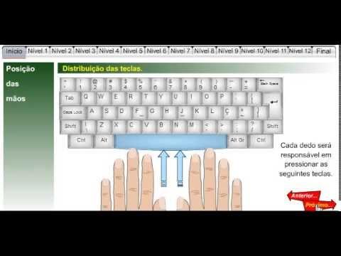 curso de digitação nivel 01 youtubecurso de digitação nivel 01