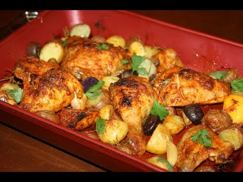 poulet-rôti-aux-herbes-&-patates---roasted-chicken-&-potatoes---دجاج-محمر-بالبطاطس
