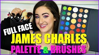 Full Face of Makeup Using Only the James Charles Palette!