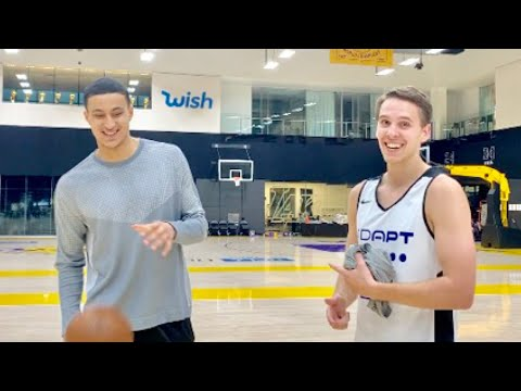 HALF COURT TRICK SHOTS WITH KYLE KUZMA!!