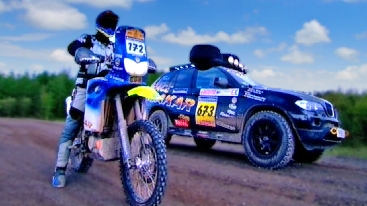 BMW F650 Dakar vs. BMW X5 - Fifth Gear