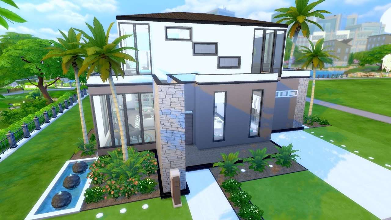 The sims 4 house build waterfront terrace youtube for Watch terrace house
