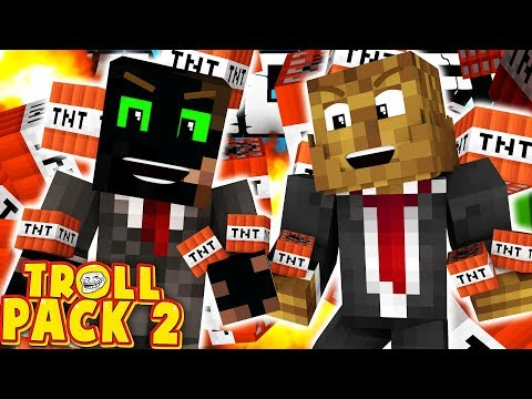 JEROME AND I HAVE BEEN PRANKED!   Troll Pack Season 2 Modded Minecraft #9
