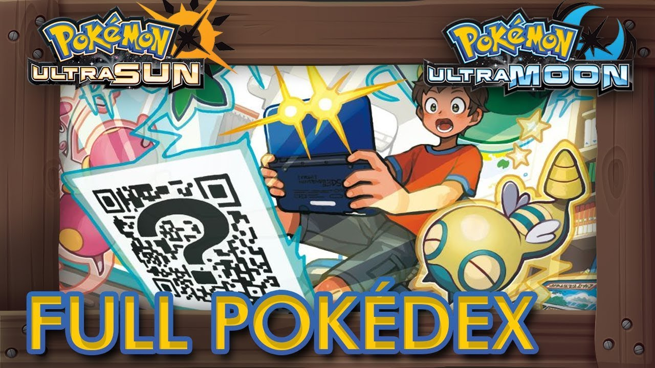 Pokémon Ultra Sun Ultra Moon QR codes list - Ultra Sun Moon