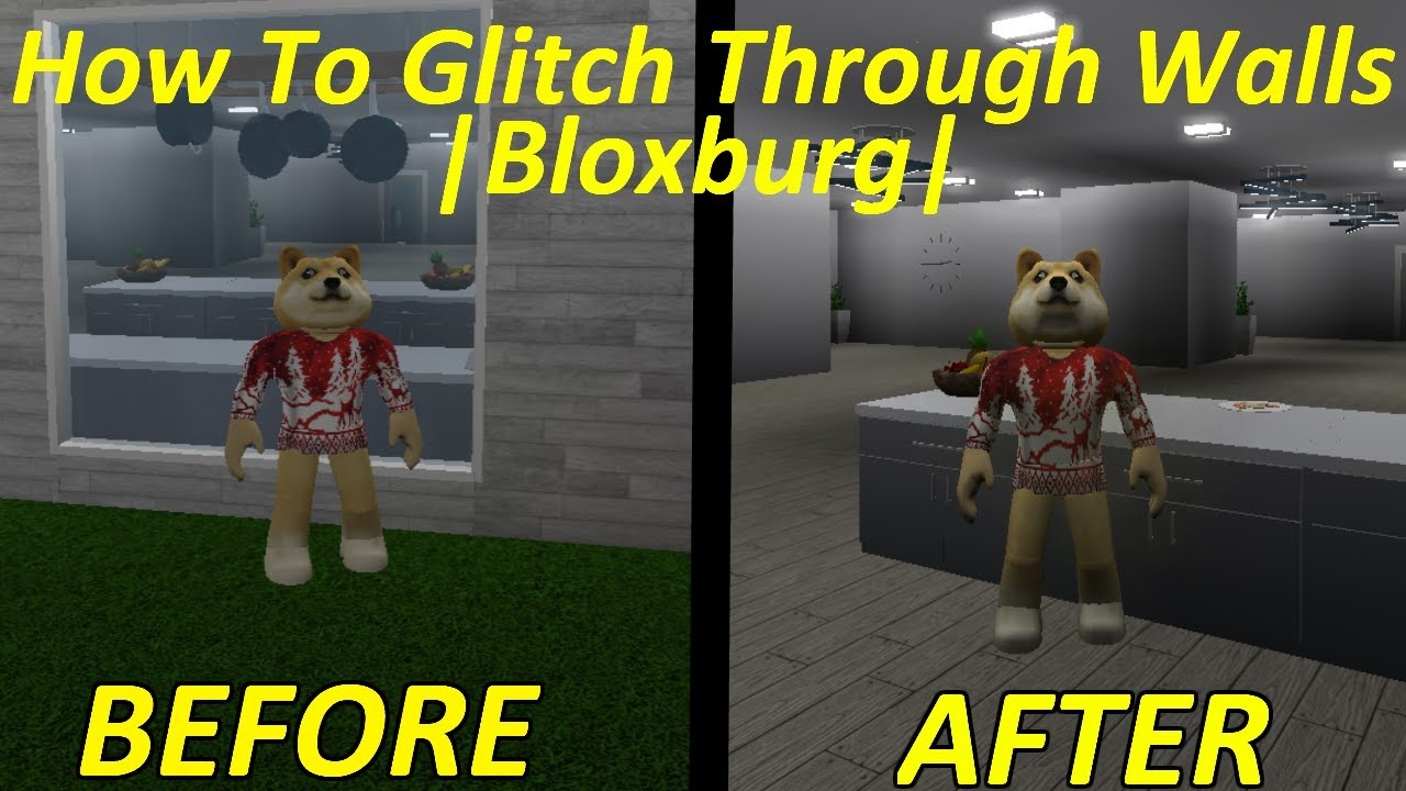 How To Glitch Through Walls Bloxburg Roblox Bloxburg Youtube