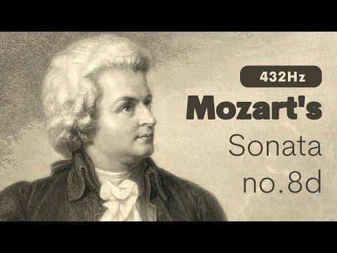 Deep Sleep Music | 432 Hz Mozart's Sonata No. 8 D Major |  Classical Relaxation