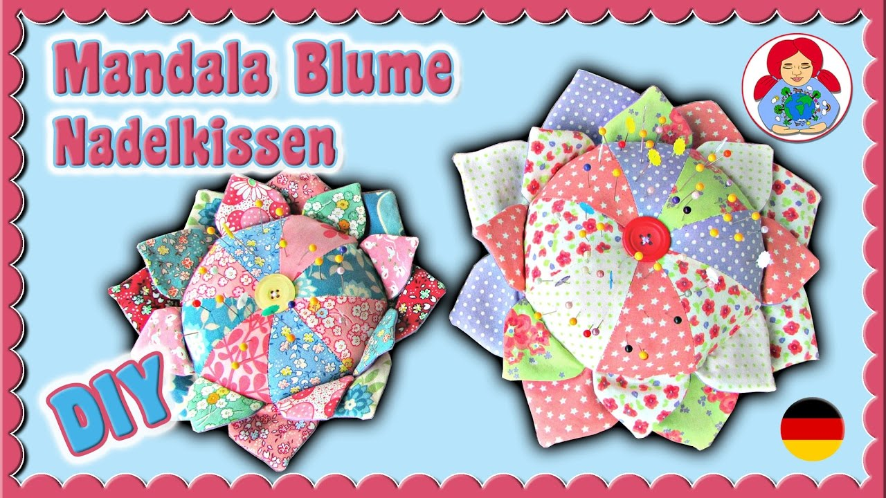 Diy Mandala Blume Nadelkissen Gratis Freebook Download Sami Doll
