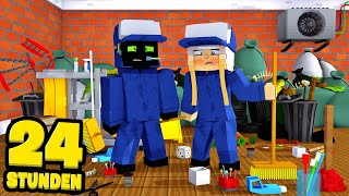 24 STUNDEN als MESSI PUTZER ARBEITEN?! - Minecraft [Deutsch/HD]
